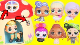LOL Surprise Dolls Wrong Heads with Fuzzy Pets + Dress Up Lils Sisters | Toy Egg Videos