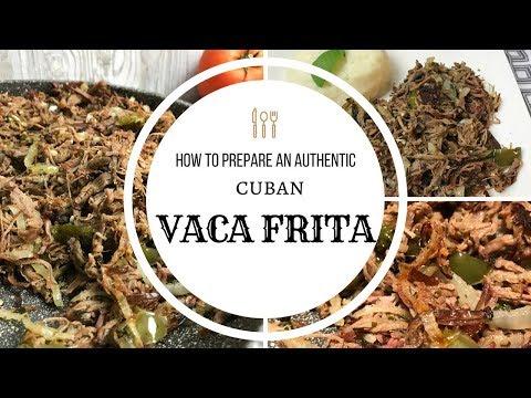 Autentica Vaca Frita   Authentic Cuban Fried Beef
