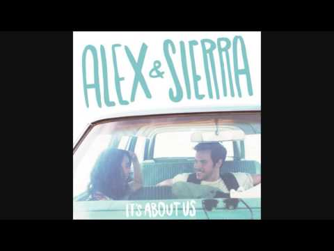 Alex and Sierra  Little do you know lyrics on screen
