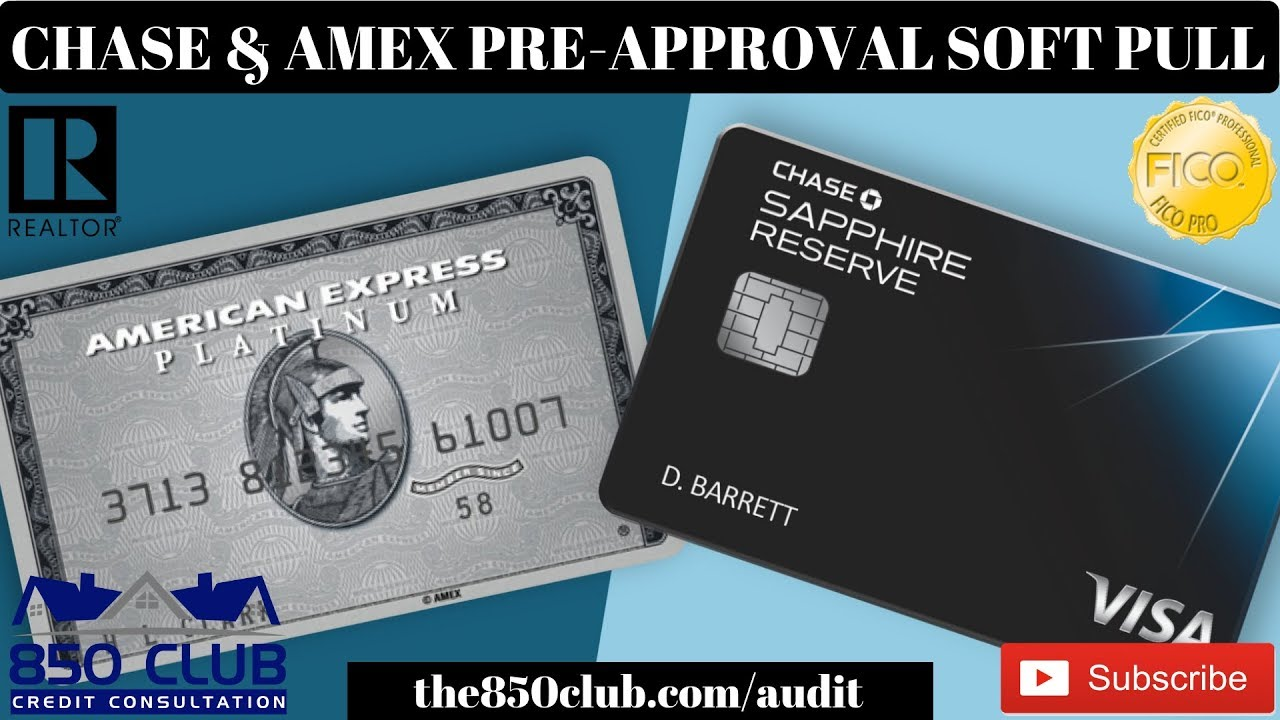 Your credit will remain untouched. Chase American Express Pre Approval Process Myfico Platinum Gold Sapphire Business Credit Union Youtube