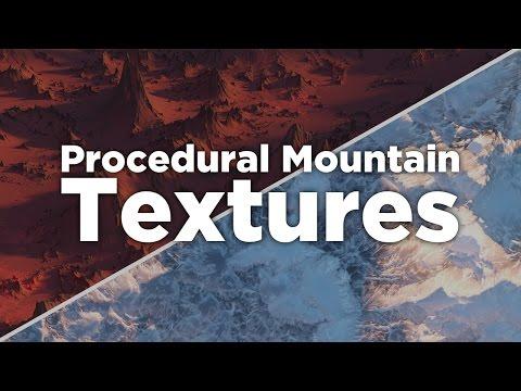 Procedural Mountain Textures in Octane For Cinema 4D