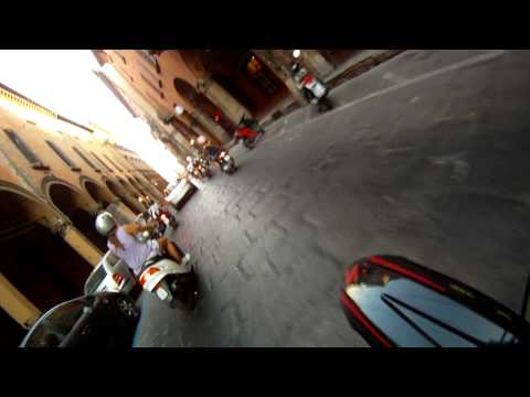 Gopro Hd HERO 960 Enduro in Bologna city Italy ,Enduro in Bologna center ;-)