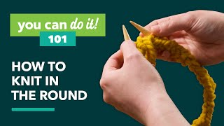 How To Knit In The Round