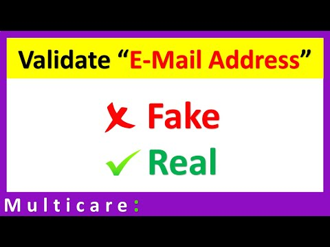 How To Validate Email Address - Quick Tutorial