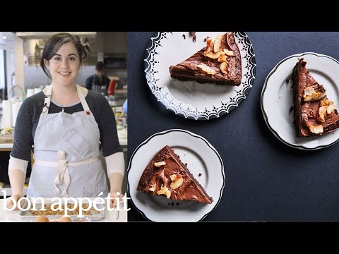 Bon Appetit Test Kitchen the ultimate passover dessert: chocolate macaroon cake | from the