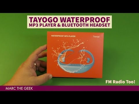TAYOGO Waterproof MP3 Player & Bluetooth Headset