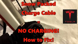 Supercharger ICE Me! How to remove/clean frozen Tesla Supercharger plug