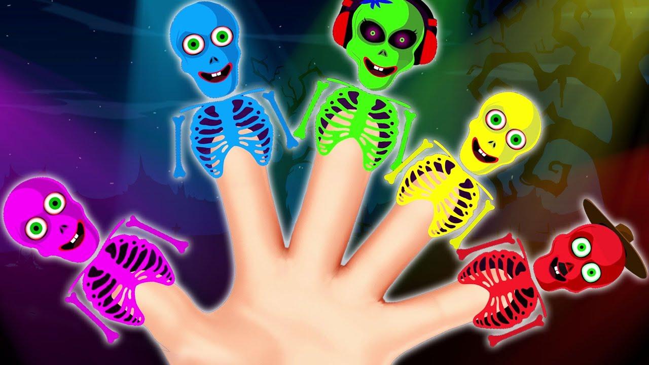 Skeleton Emotions Finger Family   Hoopla Halloween   Halloween Songs For Children