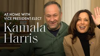 At-Home (on Zoom!) with Vice President-Elect Kamala Harris and Her Family | ELLE Exclusive