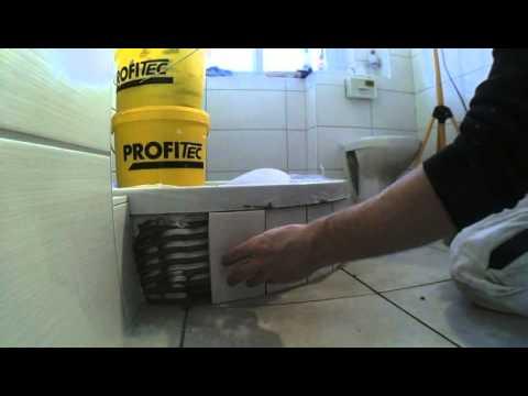 Duschwanne fliesen einbauen  Eckventil waschmaschine