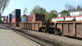 CN 2541 & CN 2515 AC4400's haul mixed freight train East toward crossover