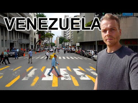 WALKING STREETS OF CARACAS, VENEZUELA (2019 Crisis Visible)