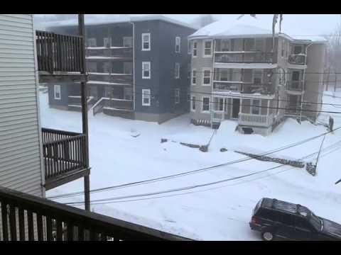Blizzard in woonsocket, rhode island.