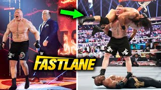 Brock Lesnar Returns And Attacks Bobby Lashley Drew McIntyre At WWE Fastlane 2021 Leaked