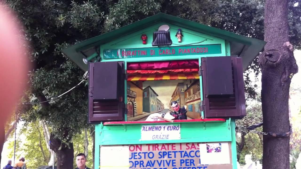Pulcinella teatrino delle marionette al gianicolo roma for O giardino di pulcinella roma