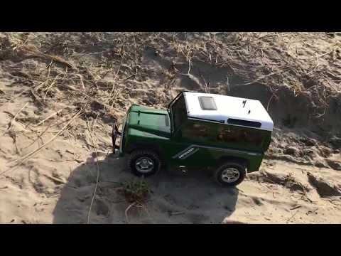 Rc world 1/10 scale beach drive Tamiya Land Rover Defender 90