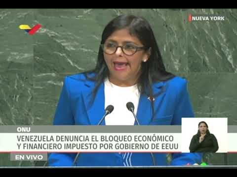 ¡Espectacular discurso en la ONU de Delcy Rodríguez, vicepresidenta de Venezuela!