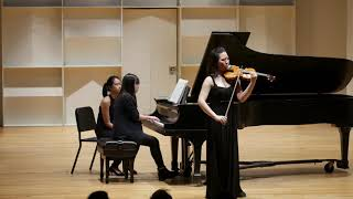 Jennifer Wang plays Brahms Violin Concerto 1st Movement, exposition