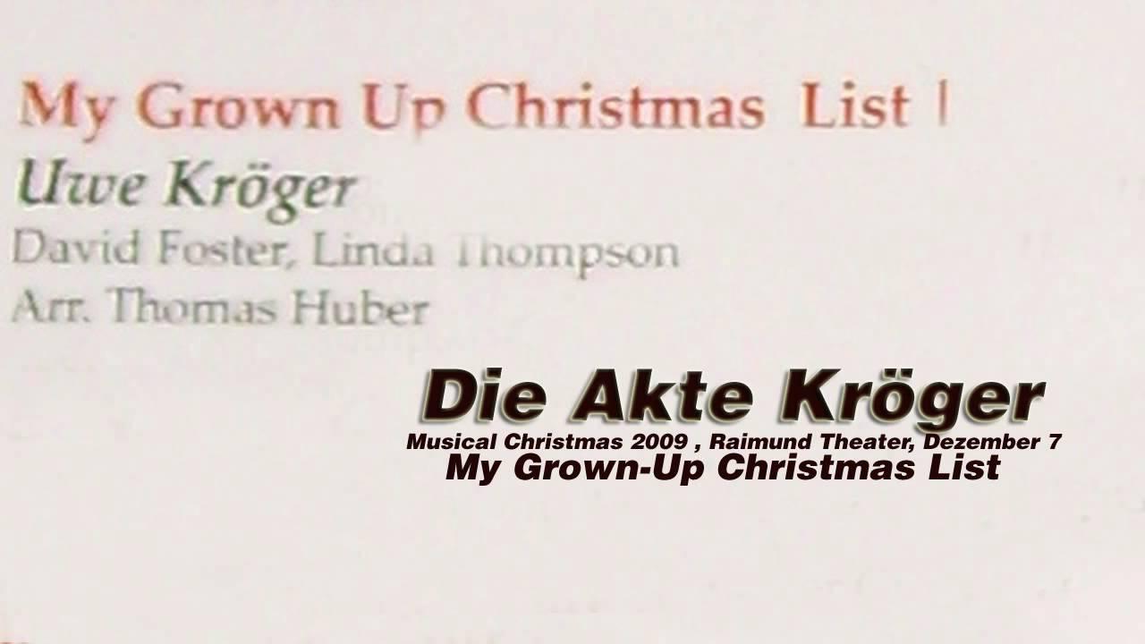 Uwe Kröger: My Grown-up Christmas List - YouTube