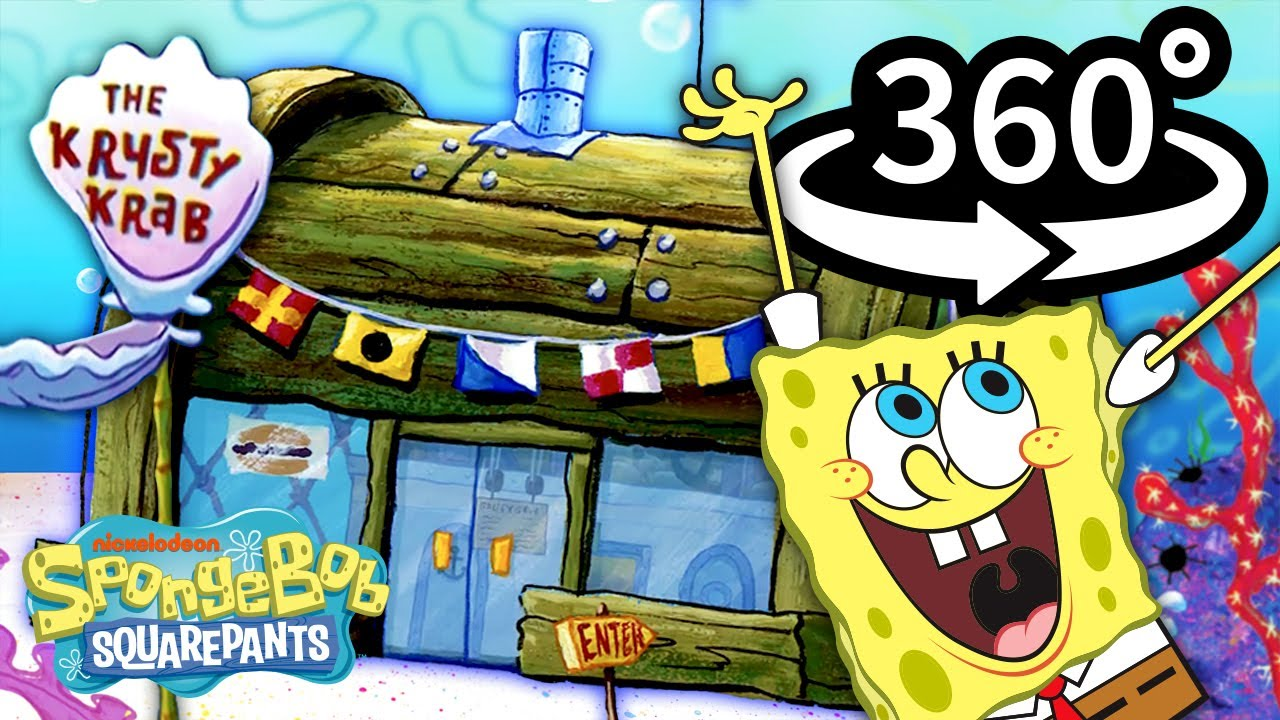 Download Go 360° Inside the Krusty Krab! 🍔   Official SpongeBob VR Video
