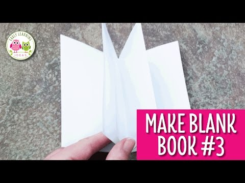 How to Make a Blank Book for Your Writing Center #3