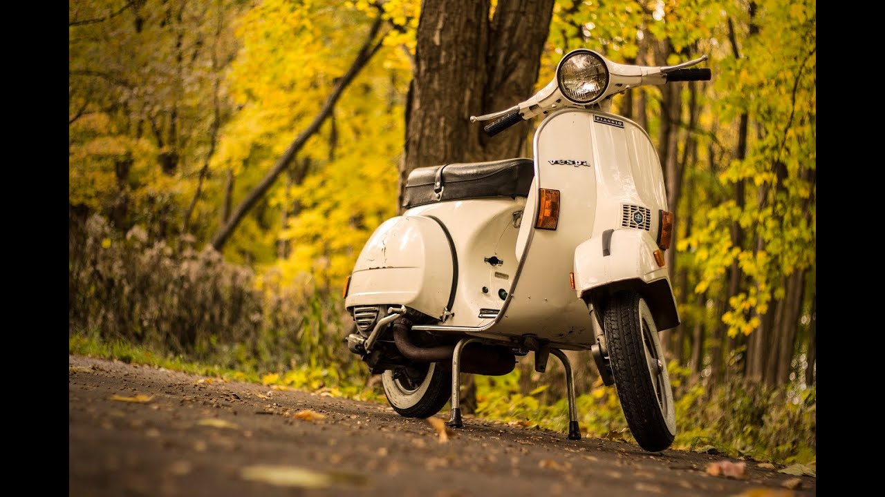 Riding 1981 Vespa P200E - YouTube