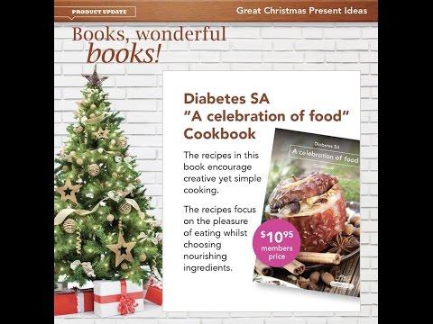 Recipe and diabetes management books