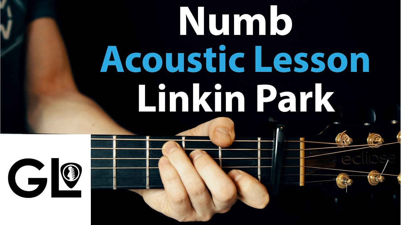 Numb Linkin Park Acoustic Guitar Lesson Easy Youtube