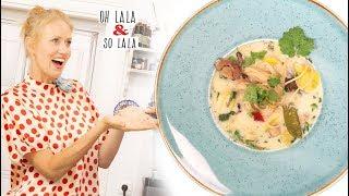 Neues Rezept * Asiatische Kokos - Gemüse Suppe mit fermentierten Zitronen * würzig mega köstlich