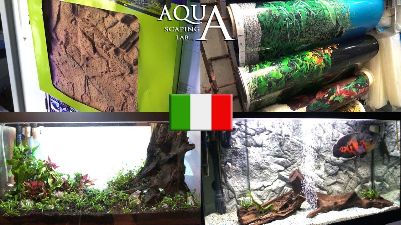 aquascaping lab - sfondi acquari sfondo 3d, pellicole adesive ... - Sfondo Esterno Per Acquario Fai Da Te