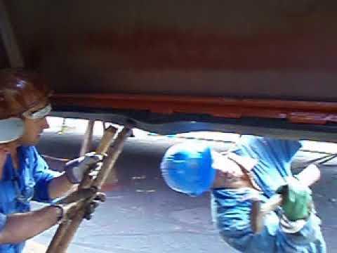 Hatch cover sealing repair work part 2