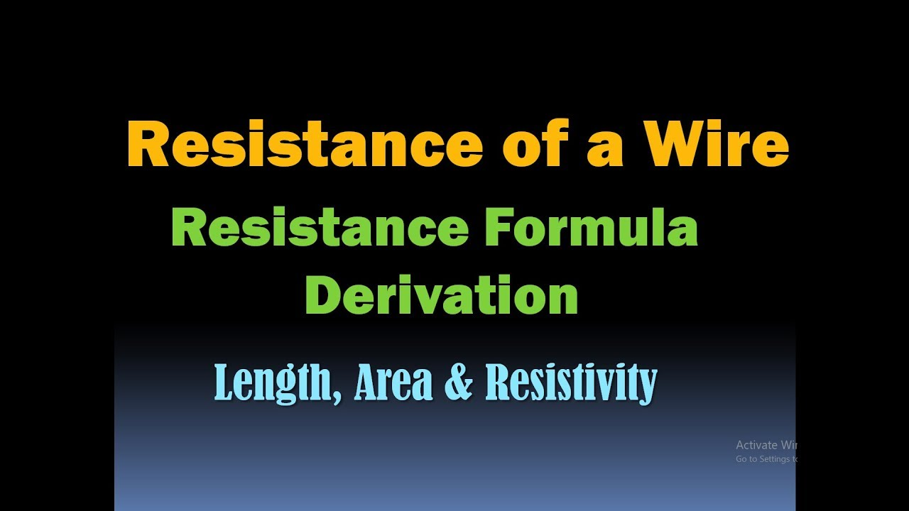 Resistance of a conductor resistance formula derivation hd youtube resistance of a conductor resistance formula derivation hd greentooth Gallery
