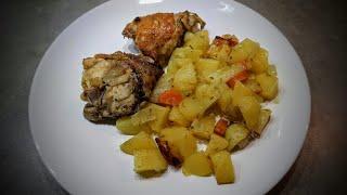 Бедрышки с картошкой в рукаве Очень простой рецепт
