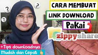 Cara buat link download dan upload file di zippyshare