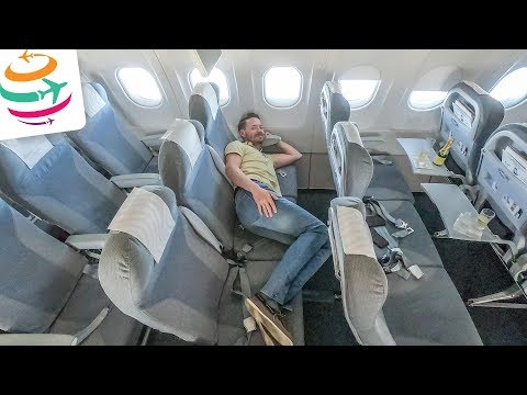 Allein in der Finnair Business Class der A321 von Berlin nach Helsinki | GlobalTraveler.TV