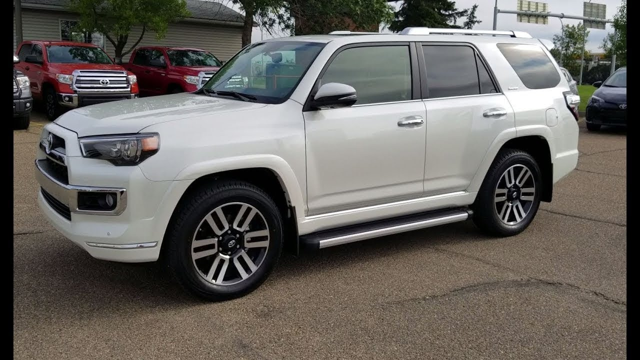 2019 Toyota 4runner Limited In Blizzard Pearl With Redwood