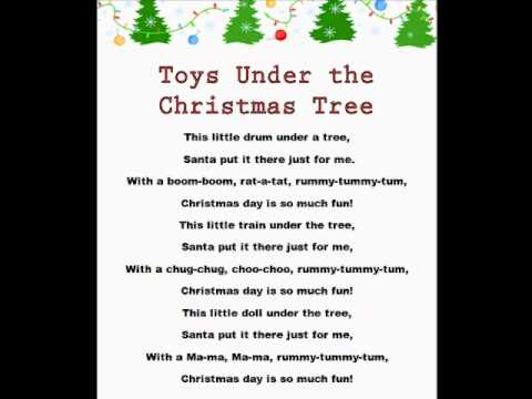 Toys Under the Christmas Tree (Christmas Rhymes) - YouTube