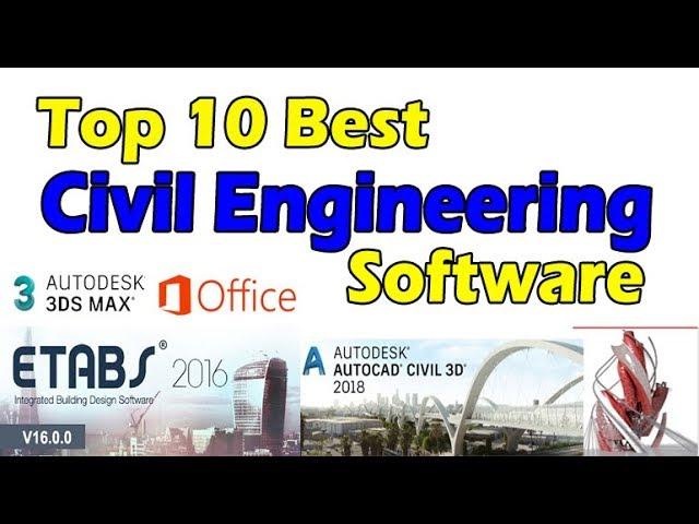 Top 10 Best Civil Engineering Software Civil Engineers Must Know Youtube