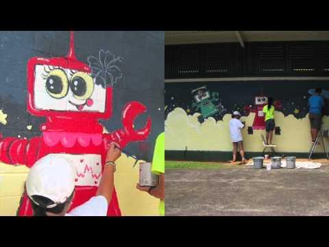 Wahiawa Middle School Robotics Mural 20150523