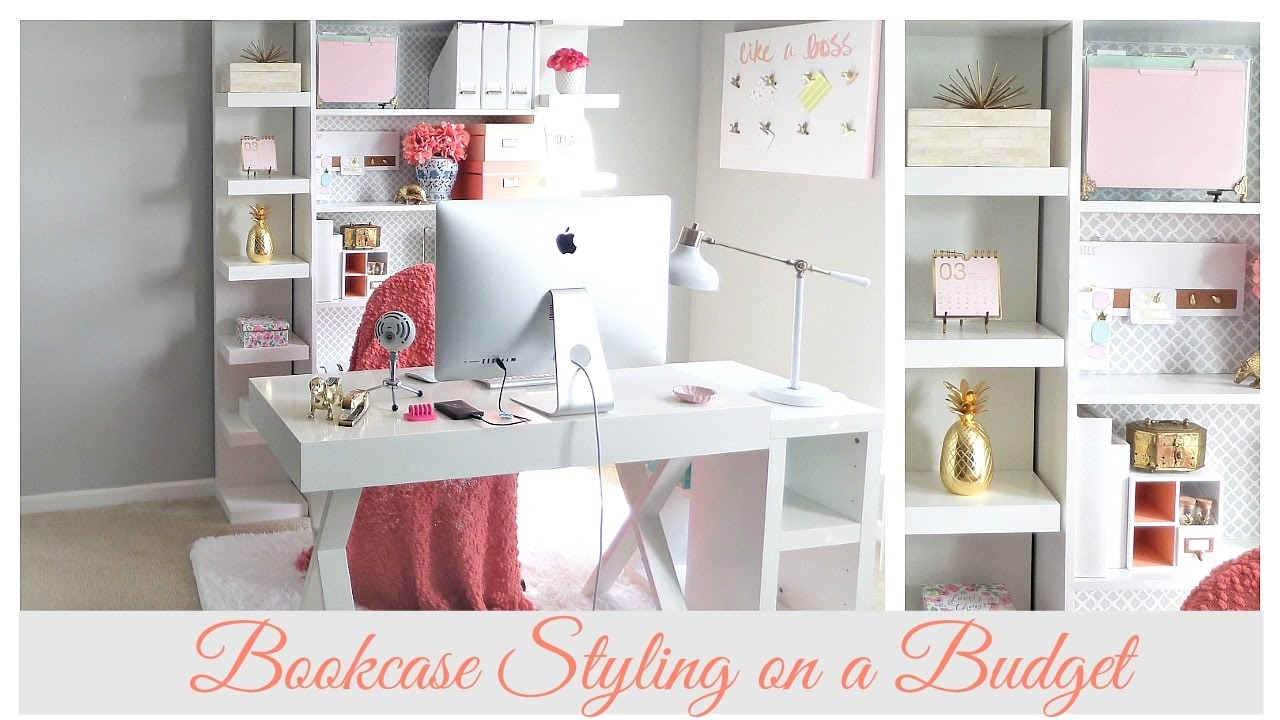 spring home organization home office bookcase styling youtube
