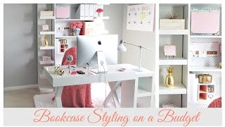 SPRING HOME ORGANIZATION | Home Office Bookcase Styling