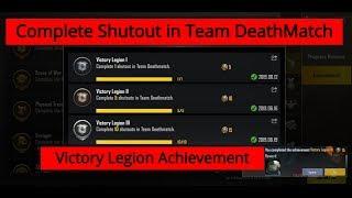 Complete Shutout In Team DeathMatch Victory Legion Achievement Pubg Mobile