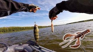 ОКУНЯ РАКОМ! Ловля окуня на джиг! Рыбалка на спиннинг 2019
