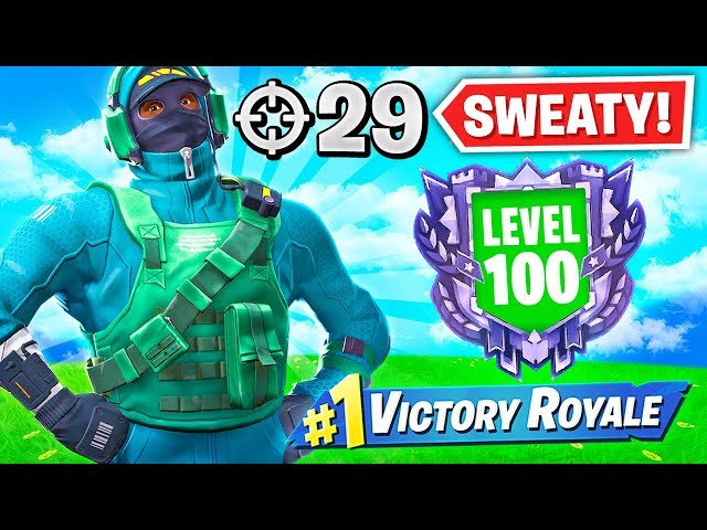 THE  SWEATY LEVEL 100 GAMER (29 Elims)