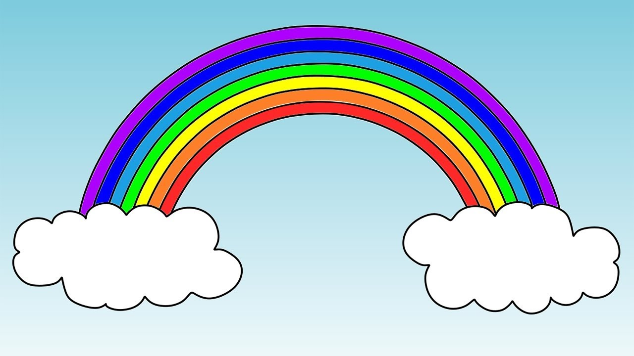 How To Draw A Rainbow Coloring Pages Learn Colours For