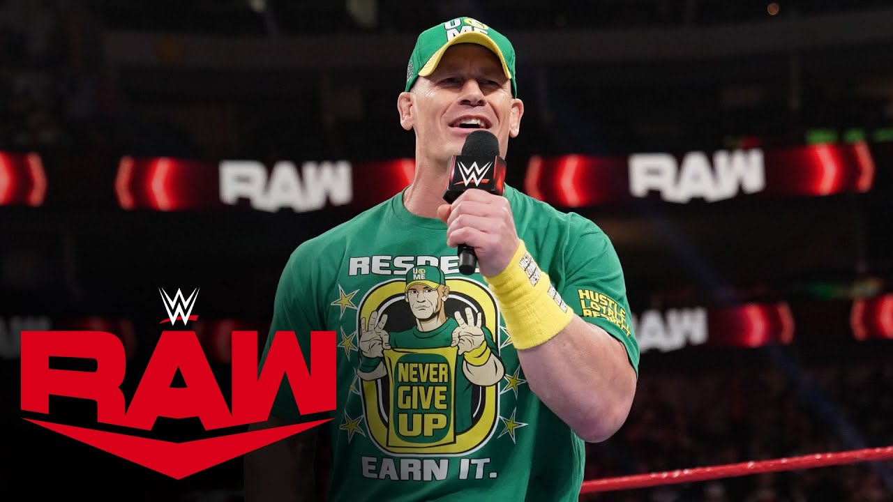 John Cena issues a challenge to Universal Champion Roman Reigns: Raw, July 19, 2021