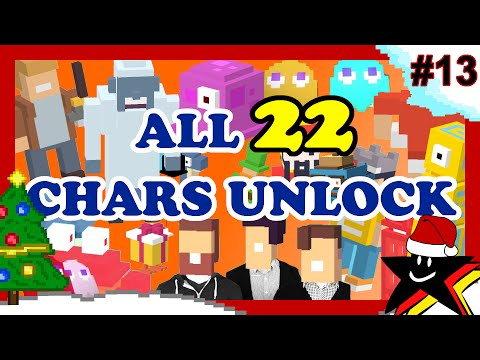 CROSSY ROAD All 22 Secret Characters Unlock | NEW Christmas Update Yeti & Purple Bloop ☆13