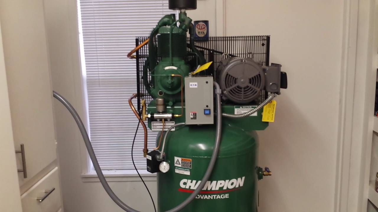 maxresdefault champion air compressor installation & review youtube champion air compressor wiring diagram at crackthecode.co