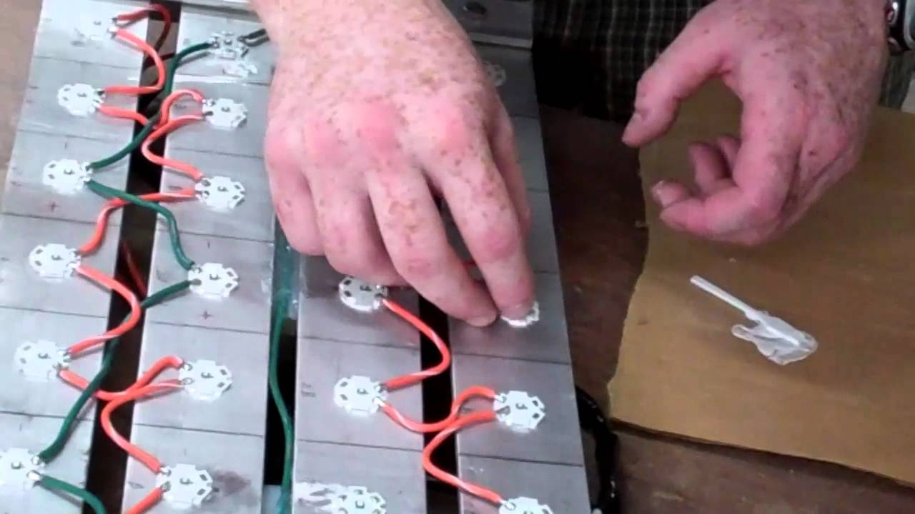 DIY LED Part 1: Attaching stars to heat sink - YouTube