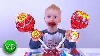 Большой ЧУПА ЧУПС Сюрприз 1КГ Giant Chuppa Chups Lollipops Candy Sweets Gummy Bear МНОГО КОНФЕТ